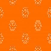 Wristwatch pattern vector orange