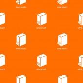 Wine pouch pattern vector orange