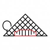 Glass Paris pyramide icon outline style