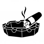 Cigar ashtray icon simple style