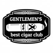 Best cigar club logo simple style