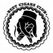 Best cigars club logo simple style
