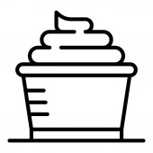Hair dye paint icon outline style