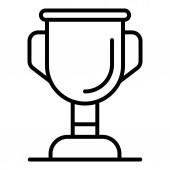 Pet gold cup icon outline style