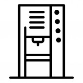 Street coffee machine icon outline style