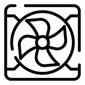 Exhaust fan icon outline style