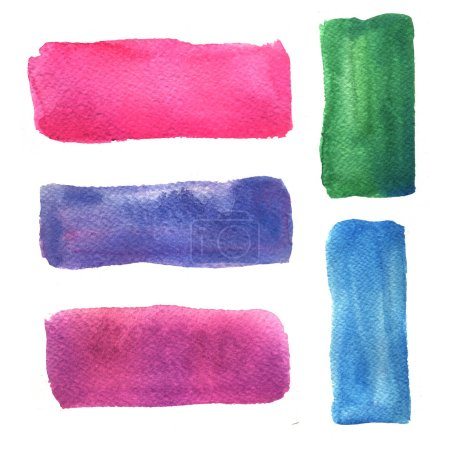 Abstract color watercolor banners