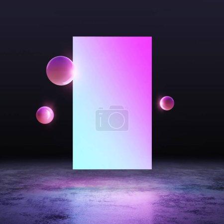 Photo pour Violet et bleu néon fond lumineux - image libre de droit