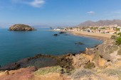 Playa de Nares beach and coast Puerto de Mazarron Murcia south east Spain one of many beautiful beaches in the town