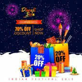 Happy Diwali Holiday shopping advertisement and promotion sale offer