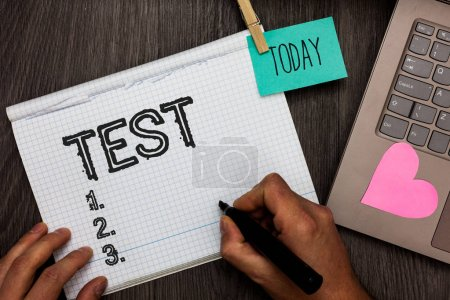 Text sign showing Test. Conceptual photo Academic ...