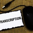 Handwriting text Transcription. Concept meaning Wr...