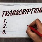 Handwriting text writing Transcription. Concept me...