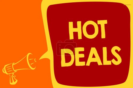 Handwriting text Hot Deals Concept