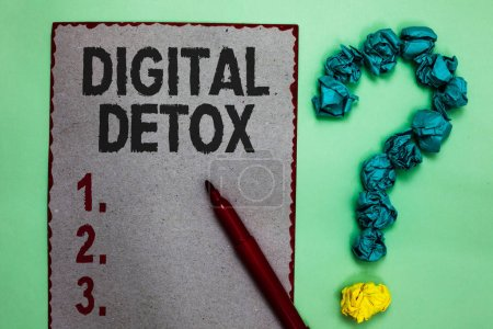 Handwriting text writing Digital Detox. Concept me...