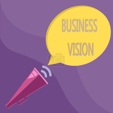 Photo for Text sign showing Business Vision. Conceptual photo grow your business in the future based on your goals. - Royalty Free Image