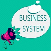 Conceptual hand writing showing Business System. Business photo text A method of analyzing the information of organizations