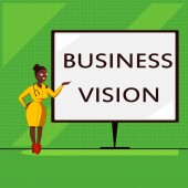 Conceptual hand writing showing Business Vision. Business photo showcasing grow your business in the future based on your goals