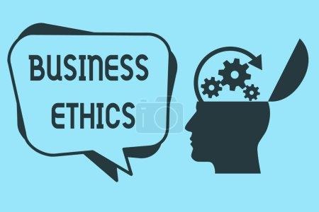 Photo pour Mot écrit texte Business Ethics. Concept d'affaires des principes moraux qui guident la façon dont une entreprise se comporte. - image libre de droit