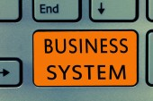 Conceptual hand writing showing Business System. Business photo text A method of analyzing the information of organizations.