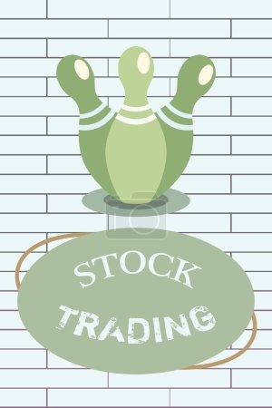 Photo pour Écriture manuscrite de texte Stock Trading. Concept signifiant achat et vente de titres par voie électronique sur le marché boursier . - image libre de droit