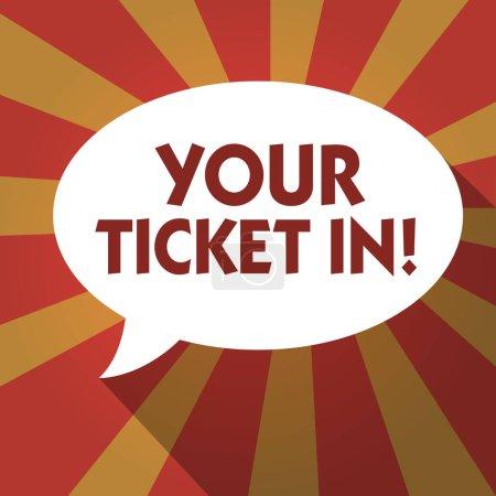 Photo pour Conceptuel main écrit montrant votre Ticket po Business photo texte morceau de papier qui vous prouver payé pour le service ou spectacle. - image libre de droit
