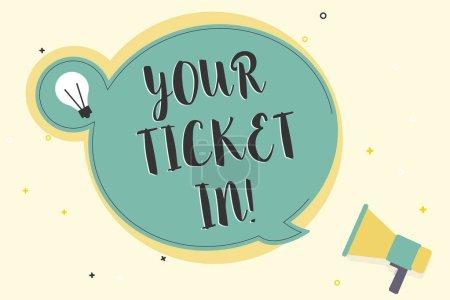 Photo pour Écriture Remarque montrant votre Ticket po Business photo présentant le morceau de papier qui vous prouver payés pour le service ou voir la. - image libre de droit