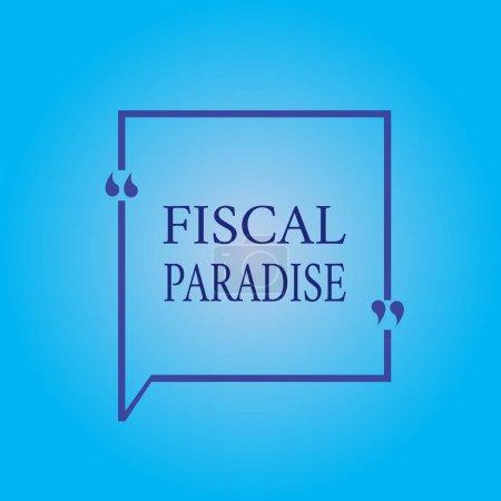 Photo pour Note d'écriture montrant le paradis fiscal. Photo d'affaires montrant le gaspillage de l'argent public est un sujet de grande préoccupation . - image libre de droit