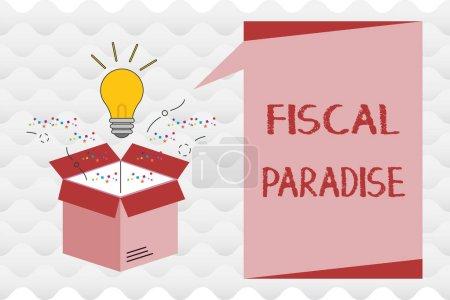 Photo pour Texte manuscrit Paradis fiscal. Signification du concept Le gaspillage d'argent public est un sujet très préoccupant . - image libre de droit
