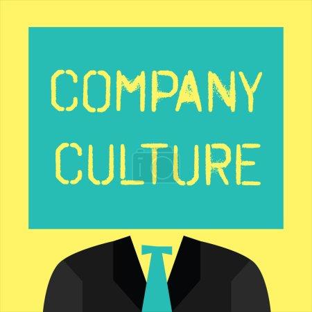 Photo pour Texte montrant la culture d'entreprise. Photo conceptuelle L'environnement et les éléments dans lesquels les employés travaillent . - image libre de droit