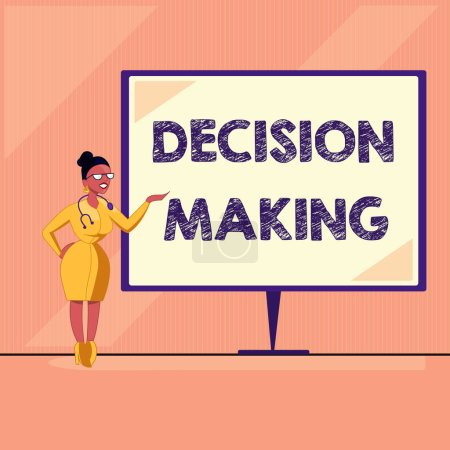Word writing text Decision Making. Business concept for The act of deciding between two or more possibilities