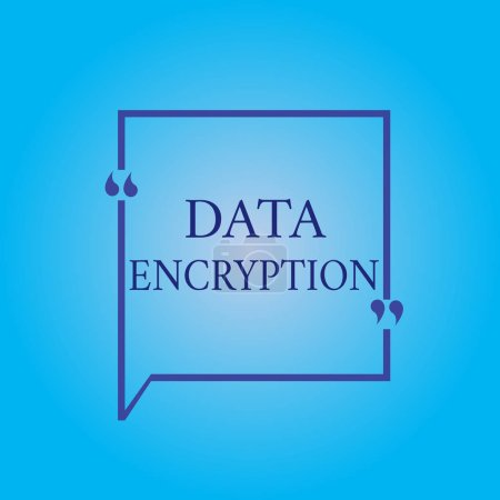 Photo for Writing note showing Data Encryption. Business photo showcasing Symmetric key algorithm for the encrypting electronic data. - Royalty Free Image