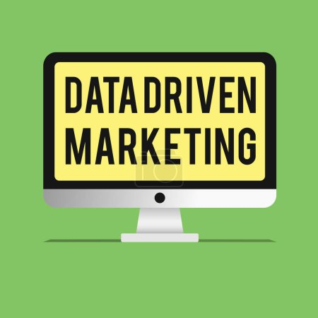 Word writing text Data Driven Marketing. Business concept for Strategy built on Insights Analysis from interactions