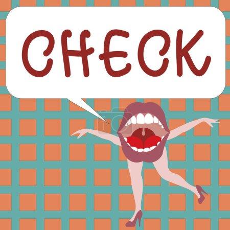 Photo pour Signe texte montrant Check. Photo conceptuelle Marque Cliquez sur une case pour sélectionner une option particulière sur un formulaire . - image libre de droit