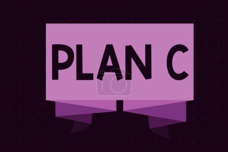 Photo pour Écriture conceptuelle montrant le plan C. Photo d'affaires montrant ceux dernière stratégie de sauvegarde proposition détaillée pour faire quelque chose . - image libre de droit