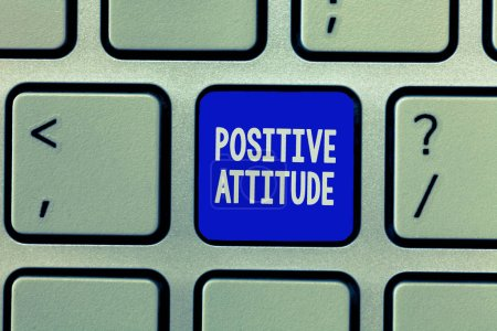 Photo for Handwriting text Positive Attitude. Concept meaning Being optimistic in Life Looking for good things. - Royalty Free Image