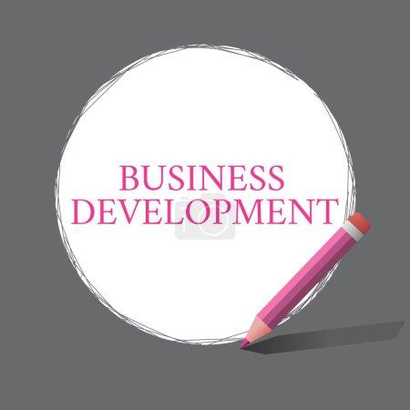 Photo pour Écriture manuscrite de texte Développement des affaires. Signification du concept Mettre en œuvre la valeur de croissance au sein et entre l'entreprise . - image libre de droit