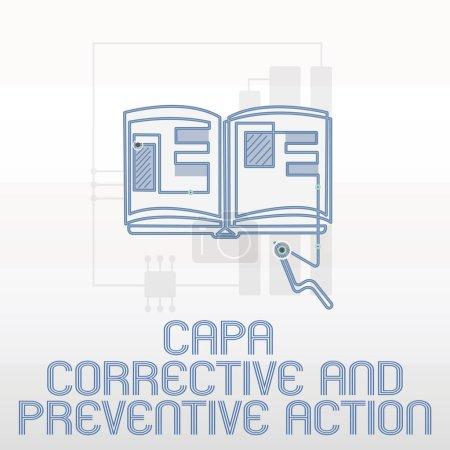 Photo pour Écriture manuscrite de texte Capa Action corrective et préventive. Signification du concept Élimination des non-conformités . - image libre de droit