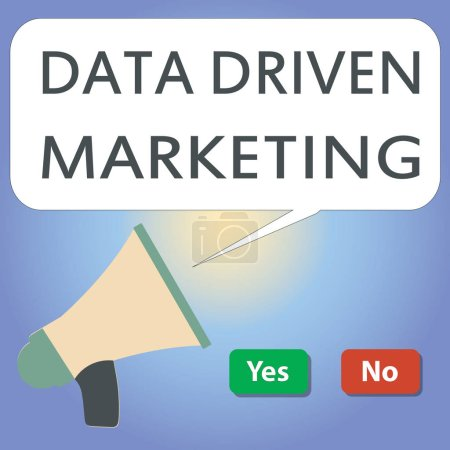 Handwriting text writing Data Driven Marketing. Concept meaning Strategy built on Insights Analysis from interactions