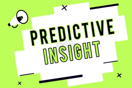 Word writing text Predictive Insight. Business concept for Proactive Fault Management System an Early Detection