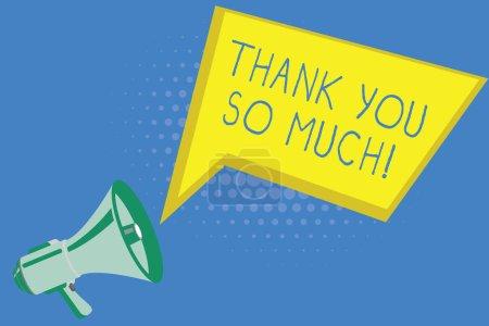 Photo pour Écriture manuscrite texte écrit Merci beaucoup. Signification conceptuelle Expression de gratitude Salutations d'appréciation . - image libre de droit