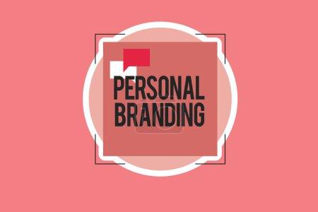 Photo pour Écriture conceptuelle montrant l'image de marque personnelle. Photo d'affaires montrant le marketing eux-mêmes et leurs carrières en tant que marques . - image libre de droit