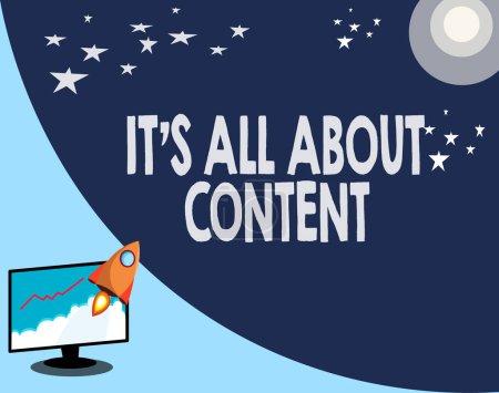 Foto de Escribir la nota que muestra s es todo sobre el contenido. Foto de negocios mostrando expresa por escrito información y experiencia. - Imagen libre de derechos