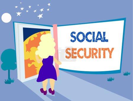 Photo pour Texte textuel Sécurité sociale. Concept d'entreprise pour l'aide des personnes de l'État ayant un revenu insuffisant ou nul . - image libre de droit