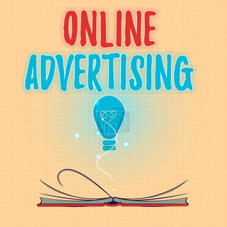 Text sign showing Online Advertising. Conceptual photo Internet Web Marketing to Promote Products and Services