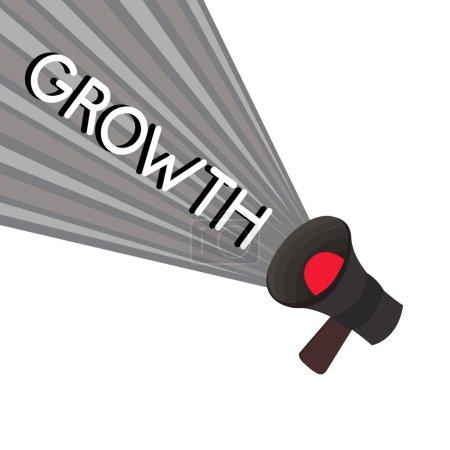 Photo pour Texte d'écriture Word Croissance. Concept d'entreprise pour le processus d'augmentation de la taille ou du jus Vieillissement . - image libre de droit