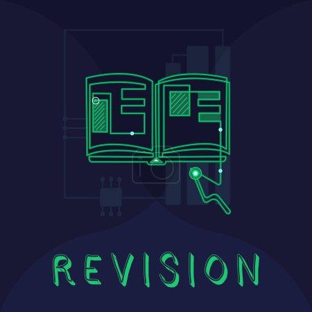 Photo pour Texte manuscrit Révision. Concept signifiant édition révisée ou forme quelque chose action de révision de correction . - image libre de droit