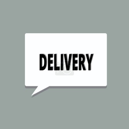 Photo for Handwriting text Delivery. Concept meaning action of delivering letters parcels or goods Giving birth. - Royalty Free Image