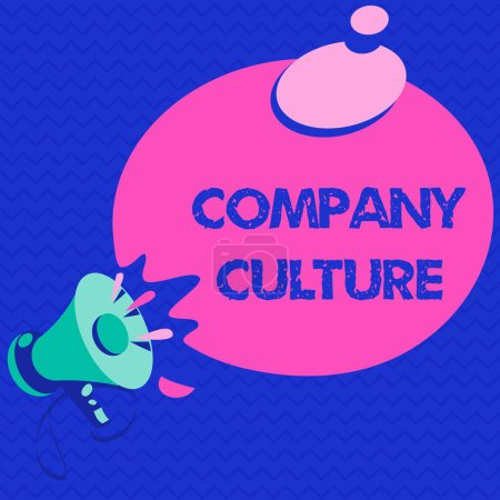 Photo pour Texte écrit Entreprise Culture. Concept d'entreprise pour L'environnement et les éléments dans lesquels les employés travaillent . - image libre de droit