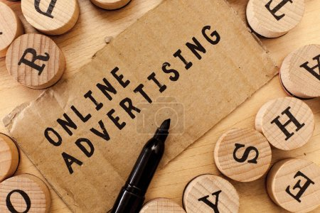 Handwriting text writing Online Advertising. Concept meaning Internet Web Marketing to Promote Products and Services